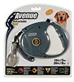 Avenue Retractable 26' Corded Leash for Dogs, Large, Gray