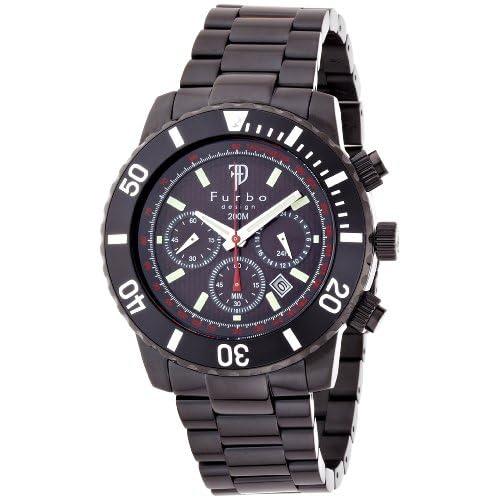 [フルボデザイン]Furbo Design Ilsole 腕時計 FS401 ソーラークォーツ クロノグラフ 20気圧防水 ブラックIP ブラック メンズ FS401BBK メンズ