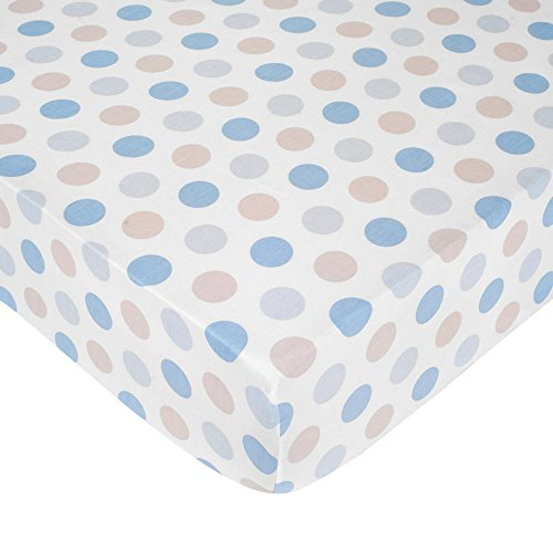 Carter's Crib Fitted Sheet, Boy Dots (Discontinued by Manufacturer) - 1