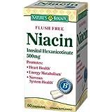 Nature's Bounty Flush Free Niacin Inositol Hexanicotinate 500 Mg - 50 Capsules