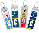 The Narrow cruise ship luggage tag holders are designed to fit the narrow Royal Caribbean and Celebrity cruise ship Etags.  Just print out your luggage tags, and slip them inside the protectors, zip the top then attach them to your bag with t...