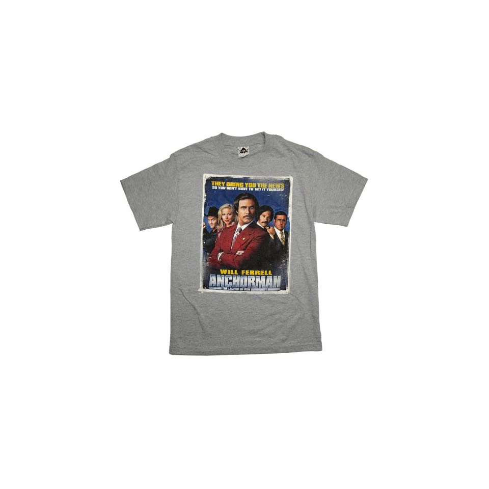 Anchorman I Love Lamp Mens Movie Line T Shirt on PopScreen