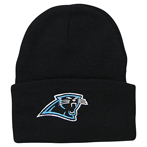 NFL Classic Team Colors Cuffed Knit Hat / Beanie (Carolina Panthers)