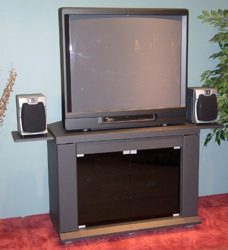 Cheap Charcoal Gray Finish TV Stand w/Pull Out Shelves (AZ00-30238×35178)
