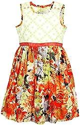 Euphoria Girls' Dress (SKU290F, Multi-Coloured, 4-5 Years)