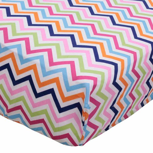 Bananafish Studio Chevron Zig Zag Crib Bedding Fitted Sheet - 1