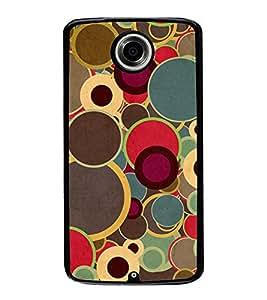 Multicolour Circular Pattern 2D Hard Polycarbonate Designer Back Case Cover for Motorola Nexus 6 :: Motorola Nexus X :: Motorola Moto X Pro :: Motorola Google Nexus 6