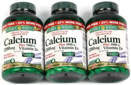Natures Bounty Calcium Plus Vitamin D3 1200 Mg Capsules - 100 Ea (Pack Of 3)