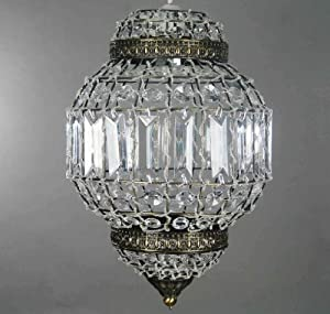 Classic Morrocan Lantern Style Antique Brass Clear Acrylic Ceiling Light Shade Easy Fit Pendant from Dove Mill Lighting