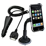 iphone 3gs car charger & iphone 3gs holder, car windscreen mount holder for iphone 3Gs 3g s & iphone 3g 3gs incar chargerby pjp electronics