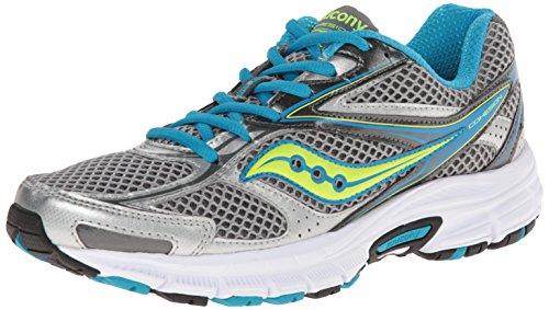 Saucony Women's Cohesion 8 Running Shoe,Grey/Blue/Citron,10 M US