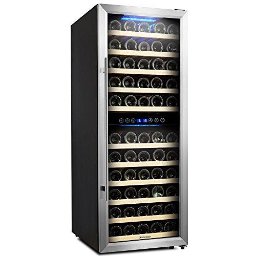 73 Bottle Dual Zone Wine Cooler Kalamera Glass Door