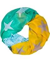 CASPAR Damen Loop / Schal / Schlauchschal mit Sterne / Streifen Print - viele Farben - SC395