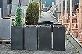 Tera-Mico-eie-556-x20ac-ventail-Lot-de-4-Light-Stone-High-Cube-80-Terrazzo-Pot-de-jardinire-pot-de-Frost-Lave-vaisselle-mieux-que-fibre-de-verre-rectangulaire-L-40-cm-L-40-cm-H-80-cm