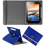 Acm Rotating 360° Leather Flip Case For Lenovo A7-50 A3500 Tablet Cover Stand Dark Blue