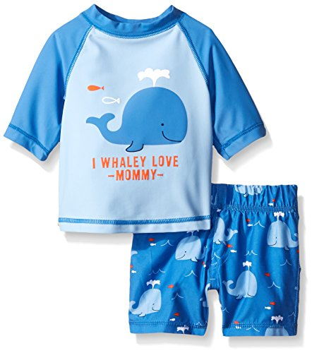 The Children's Place Baby Whale Swim Set, Sky Blue, 12-18 Months