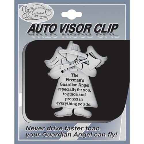 Cathedral Art Kvc621 Angels At Work And Play Visor Clip, Fireman, 2-1/4-Inch front-176061