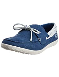 Gas Men's Finn Washed Canvas And Action Leather Boat Shoes