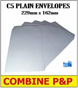 10 x C5/A5 PLAIN WHITE SELF SEAL ENVELOPES 90gsm SS