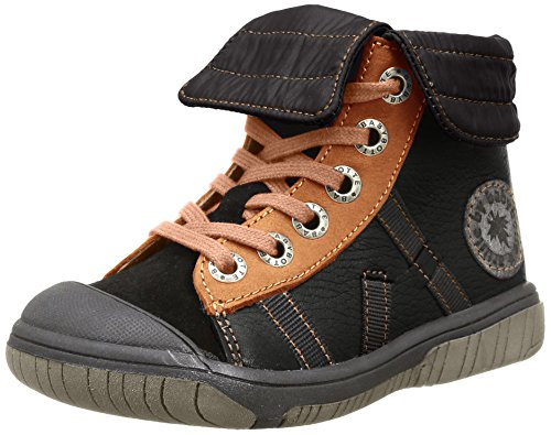 Babybotte - Artiski1, Sneakers per bambini e ragazzi, nero (396 noir/camel), 23