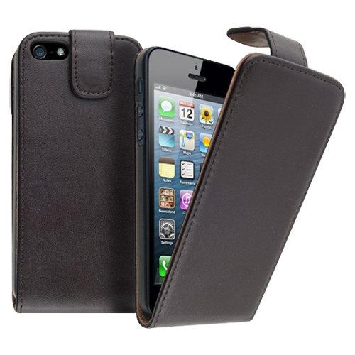 Sunwire Schutzhülle für Apple iPhone5, aus PU-Leder, Braun Braun braun