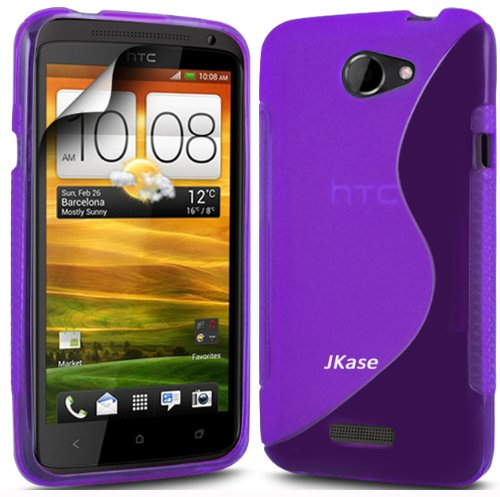 Jkase Premium Quality Ultra Slim Streamline Series Tpu Protective Case Cover - Retail Packaging (Htc One S, Purple)