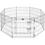 Pet Trex 2205 24 x 24 8 Panel Pen Exercise Playpen for Dogs with High Panel and Gate, 24 x 24""