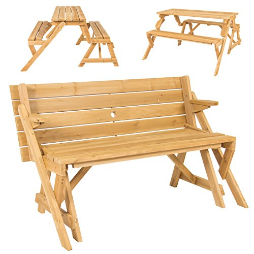 Buy Best Choice Products Patio 2 in 1 Outdoor Interchangeable Picnic Table / Garden Bench Wood