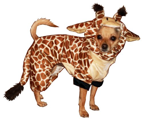 Hip Doggie Giraffe Dog Costume, Onesy Jumper, XS
