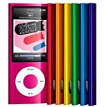 8GB MP4 PLAYER NANO STYLE 4TH GENERATION MP3 PLAYER with FM RADIO and FULL COLOUR LCD SCREEN & 30 PIN IPOD DOCK CONNECTOR – 5 colours (NOT an Ipod Nano)