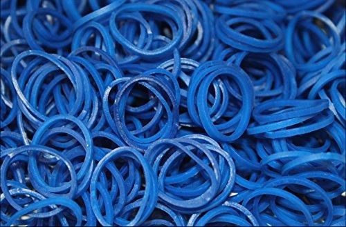Loom Bands Starterset Bänder Gummibänder Looms Bandz Webrahmen Armband DIY XXXL 200/300/400/600/1200/1800/5500 (600 x Nr 119 Dunkelblau)