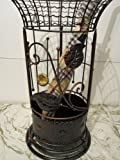 Round Metal Wrought Iron Umbrella Holder Stand