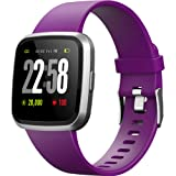 2019 version H4 Fitness Health 2in1 Smart Watch Womens Sports Smartwatch with All-day Heart Rate Blood Pressure Monitor Bluetooth Running Bracelet Activity Tracker Compare for Android & iOS (Voilet) (Color: Voilet)