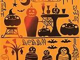 【 kenema 気音間 】 注染 手ぬぐい 「 Ancient Halloween」(エジプト風ハロウィン)