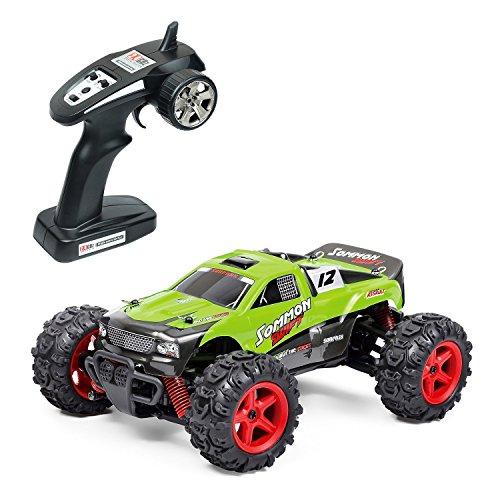EchoAcc-RC-Autos-Elektro-Offroad-4x4-RC-LKW-40-kmh-High-Speed-124-50M-Fernauto-40-Minuten-mal-Fernbedienung-LKW-Schnelles-Rennen-Spielzeugauto-24-GHz-Elektro-Buggy-Spielen-BG1510B-Grn