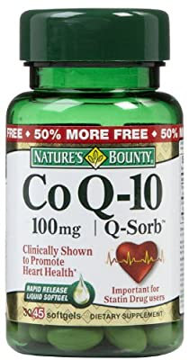 Nature's Bounty Q-Sorb Co Q-10, 100mg, Softgels 30 ea