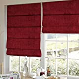 Presto Bazaar Red Solid Velvet Window Blind (84 Inch X 44 Inch)