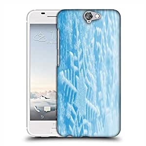 Snoogg Blue Xmas Designer Protective Phone Back Case Cover For HTC one A9