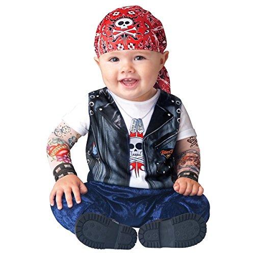 [GSG Baby Biker Costume Cute Halloween Fancy Dress Outfit] (Biker Teen Costumes)