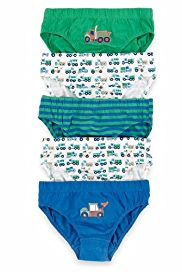 5 Pack Pure Cotton Assorted Transport Slips