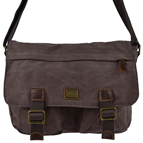 herren-damen-canvas-leder-messenger-bag-von-troop-london-travel-geraumiges-schwarz-schwarz