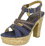Pepe Jeans Footwear Women's Gothenburg Leather Platforms Heels