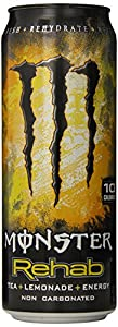Monster Rehab Energy Drink, Tea + Lemonade, 23-Ounce Cans (Pack of 12)