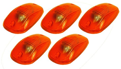 Pacer Performance 20-246 Hi-Five Amber Dodge Style Cab Roof Light Kit, (Pack of 5)