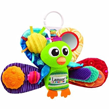 Lamaze Play & Grow Jacques the Peacock Take Along ToyWhether playing in the crib or napping in the car, your baby won't want to go anywhere without Jacques the Peacock. Safe and fun, this plush toy from Tomy is a winner with babies and young children...