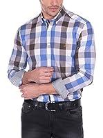 Giorgio Di Mare Camisa Hombre (Azul / Marrón)