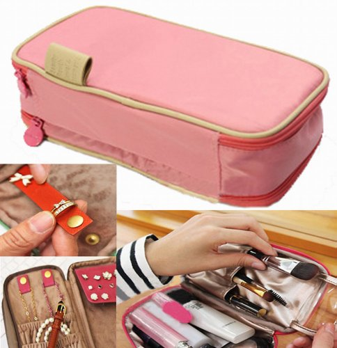 Waterproof Bag Organiser/Cosmetic Case/Jewellery Case/Travel Organiser(Light Pink)