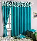 Swayam Solid Eyelit Door Curtain - Turquoise (CURD-P2711)