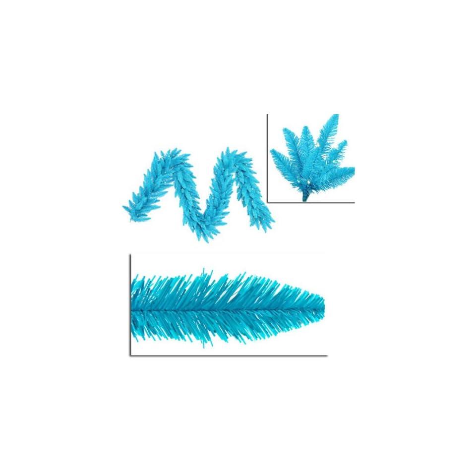 9 x 14 Pre Lit Sky Blue Ashley Spruce Christmas Garland   Frost & Blue Lights