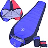 Outdoor Vitals Down 15 Degree Sleeping Bag, Mummy Style, 3 Season, Lightweight (Blue)